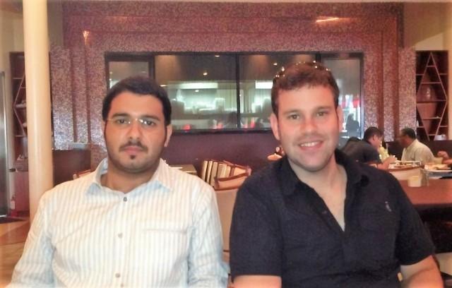 Jarrah Carlos and me at arabic restaurant after finising afternoon classes-magic